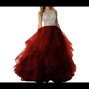 Dresses & Skirts - Burgundy Prom Dress *Updated With Measurements*